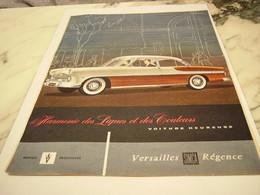 ANCIENNE PUBLICITE VOITURE  HEUREUSE SIMCA 1956 - Voitures