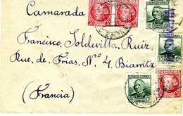 1938 SOBRE CORREO CAMPAÑA N°4  42 BATALLON FORTIFICACIONES  EL508 - 1931-Today: 2nd Rep - ... Juan Carlos I