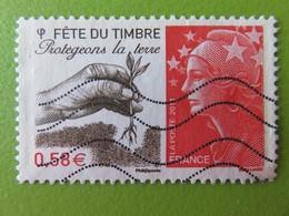 """Timbre France YT 4534 - Fête Du Timbre - """"Protégeons La Terre"""" - Marianne Et L'Europe - 2011 - Frankrijk"""
