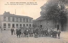 75019-PARIS- VILLA DES OTAGES- RUE HAXO COUR DU PATRONAGE DES GARCONS , A DROITE LA CHAPELLE - Arrondissement: 19