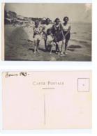 FORMIA ( LATINA ) SPIAGGIA - CARTOLINA FOTOGRAFICA - 1929 (3320) - Latina