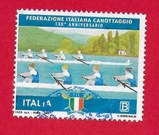 ITALIA REPUBBLICA USATO - 2018 - 130º Anniversario Fondazione Federazione Italiana Canottaggio - 1,10 € - B - S. ---- - 6. 1946-.. Repubblica