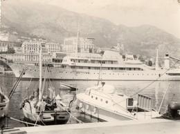 L - PHOTO ORIGINALE - BATEAU - MONACO  MONTE CARLO - YACHT CHRISTINA O - 29 JUILLET 1961 - PROPRIETAIRE ARISTOTE ONASSIS - Boats
