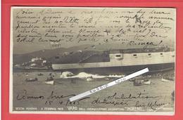 PHOTOGRAPHIE 1903 GENES ITALIE LANCEMENT DU CROISEUR BLINDE MARIO MORENO CONSTRUIT POUR L ARGENTINE EN GUERRE AVEC CHILI - Boats