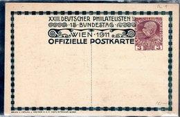 1911 - CARTE OFFICIELLE - RENCONTRE DES PHILATELISTES DE LANGUE ALLEMANDE - - Ganzsachen