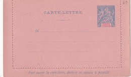 CONGO FRANCAIS     ENTIER POSTAL/GANZSACHE/POSTAL STATIONERY  CARTE-LETTRE - French Congo (1891-1960)