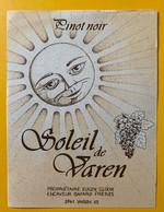 10689 - Pinot Noir Soleil De Varen Valais Suisse Eugen Gloor - Etiquettes