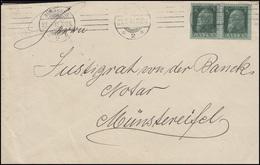77 Luitpold 5 Pf Paar MeF Auf Fern-Brief NÜRNBERG 2 - 31.7.13 Nach Münstereifel - Bayern