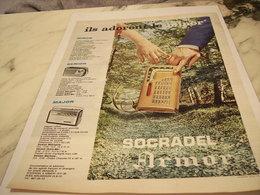 ANCIENNE   PUBLICITE LE MINOR RADIO SOCRADEL ARMOR 1961 - Music & Instruments