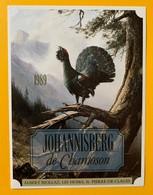 10691 - Johannisberg De Chamoson 1989 Valais Suisse Coq De Bruyère De La Série  La Chasse Et La Vigne - Chasse