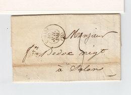 Sur LAC De Romans Pour Salon CAD T 13 Romans 1841. CAD Salon B. Du Rhône T. 12. Taxe Manuscrite. (2314x) - 1801-1848: Precursors XIX