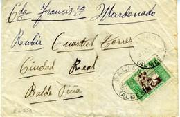 1937 DALIAS ALMERIA  Con Sello Hogar Escuela  EL550 - 1931-50 Cartas
