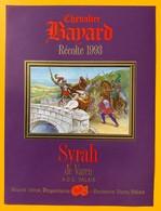 10696 - Syrah De Varen Chevalier Bayard 1993 Valais Suisse - Chasse