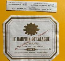 10697 - Le Dauphin De Lalague 1983 Sauternes - Bordeaux