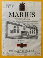 10698 - Marius 1986 Almansa Espagne - Etiquettes