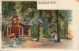 Allemagne. Karlsbad. Carte Illustrée. Petite Tache En Haut à Droite - Karlsruhe