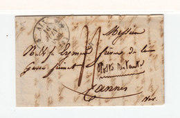 Sur LAC D'Aix En Provence Vers Cannes Poste Restante CAD T. 12 Aix 1840. CAD T. 12 Cannes. Taxe Manuscrite. (2415x) - 1801-1848: Precursors XIX
