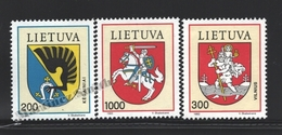 Lituanie – Lithuania – Lituania 1992 Yvert 436-38, Natioanl Coat Of Arms (I) - MNH - Lituania