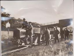 WORLD SMALLEST RAILWAY FLOOD GANGE RAILWAY ESKADE VALLEY CUMBERLAND 21*17CM Fonds Victor FORBIN 1864-1947 - Trenes