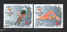 Lituanie – Lithuania – Lituania 2000 Yvert 647-48, Sydney Summer Olympic Games - MNH - Lituania