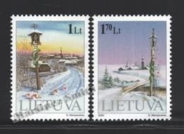 Lituanie – Lithuania – Lituania 2000 Yvert 653-54, Christmas - MNH - Lituanie