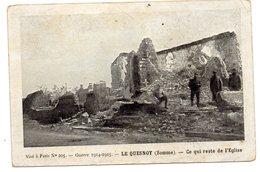 CPA  59        LE QUESNOY     1915    GUERRE 1914 1915         RUINES DE L EGLISE - Le Quesnoy