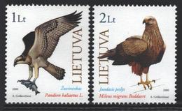 Lituanie – Lithuania – Lituania 2000 Yvert 643-44, Fauna Protection, Birds  - MNH - Lituanie