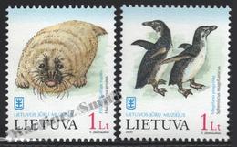 Lituanie – Lithuania – Lituania 2000 Yvert 645-46, Fauna Protection, Marine Museum, Seal & Penguins - MNH - Lituania