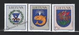 Lituanie – Lithuania – Lituania 2002 Yvert 684-86, City Coat Of Arms (XI) - MNH - Lituania
