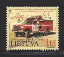 Lituanie – Lithuania – Lituania 2002 Yvert 694, Bicentenary Fireman Of Vilnius - MNH - Lituania