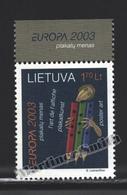 Lituanie – Lithuania – Lituania 2003 Yvert 714, Europa Cept. Art - MNH - Lithuania
