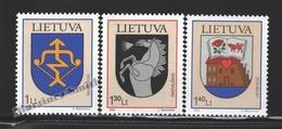 Lituanie – Lithuania – Lituania 2004 Yvert 732-34, Coat Of Arms (XIII) - MNH - Lituania