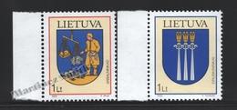 Lituanie – Lithuania – Lituania 2005 Yvert 759-60, Coats Of Arms (XIV) - MNH - Lituania