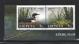 Lituanie – Lithuania – Lituania 2005 Yvert 769-70, The Red Book, Flora & Fauna Of The Lakes - MNH - Lituania