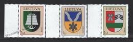 Lituanie – Lithuania – Lituania 2006 Yvert 789-91, Coat Of Arms (XV) - MNH - Lituania