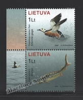 Lituanie – Lithuania – Lituania 2006 Yvert 796-97, The Red Book, Fauna, Bird & Fish - MNH - Lituania