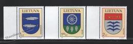 Lituanie – Lithuania – Lituania 2007 Yvert 811-13, Coat Of Arms (XVI) - MNH - Lituania