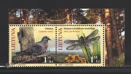 Lituanie – Lithuania – Lituania 2010 Yvert 907-08, The Red Book, Fauna, Birds & Insect - MNH - Lituania