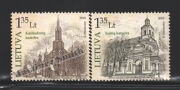 Lituanie – Lithuania – Lituania 2010 Yvert 909-10, Religious Buildings - MNH - Lituania