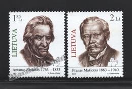 Lituanie – Lithuania – Lituania 2013 Yvert 979-80, Famous People - MNH - Lithuania