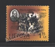 Lituanie – Lithuania – Lituania 2013 Yvert 981, 150th Ann. Insurrection Against Russian Empire - MNH - Lithuania