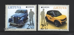 Lituanie – Lithuania – Lituania 2013 Yvert 983-84, Europa Cept. Postal Vehicles - MNH - Lithuania