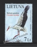 Lituanie – Lithuania – Lituania 2013 Yvert 982, Fauna, National Bird, Stork - MNH - Lituania