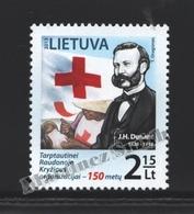 Lituanie – Lithuania – Lituania 2013 Yvert 986, 150th Ann. Red Cross International Committee - MNH - Lithuania