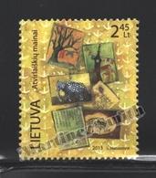 Lituanie – Lithuania – Lituania 2013 Yvert 999, Post Crossing, Letters - MNH - Lithuania
