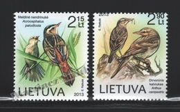 Lituanie – Lithuania – Lituania 2013 Yvert 997-98, The Red Book, Birds - MNH - Lituania