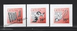 Lituanie – Lithuania – Lituania 2013 Yvert 1002-04, Definitive Set, Musical Instruments (II) - MNH - Litauen