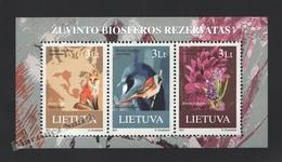 Lituanie – Lithuania – Lituania 2013 Yvert BF 47, Fauna & Flora, Natural Reserve Of Zuvintas - MNH – Miniature Sheet - Lituania