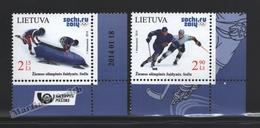 Lituanie – Lithuania – Lituania 2014 Yvert 1006-07, Winter Olympic Games, Sotchi - MNH - Litauen