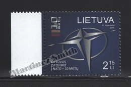 Lituanie – Lithuania – Lituania 2014 Yvert 1010, 10th Ann. NATO Joining By Lithuania - MNH - Litauen